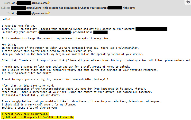 Bitcoin Hacked Email Scam Thedro Neely